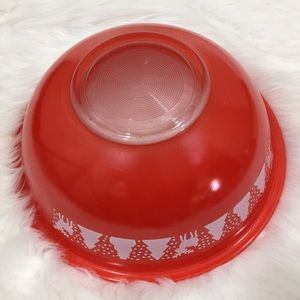 Other - Vintage Pyrex Red Bowl with Reindeer 2.5 Quart
